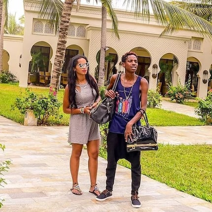 Eric Omondi steps out carrying his fiance's handbags yet again