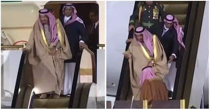 How do I use the stairs again?! Saudi King left confused after his golden escalator breaks down