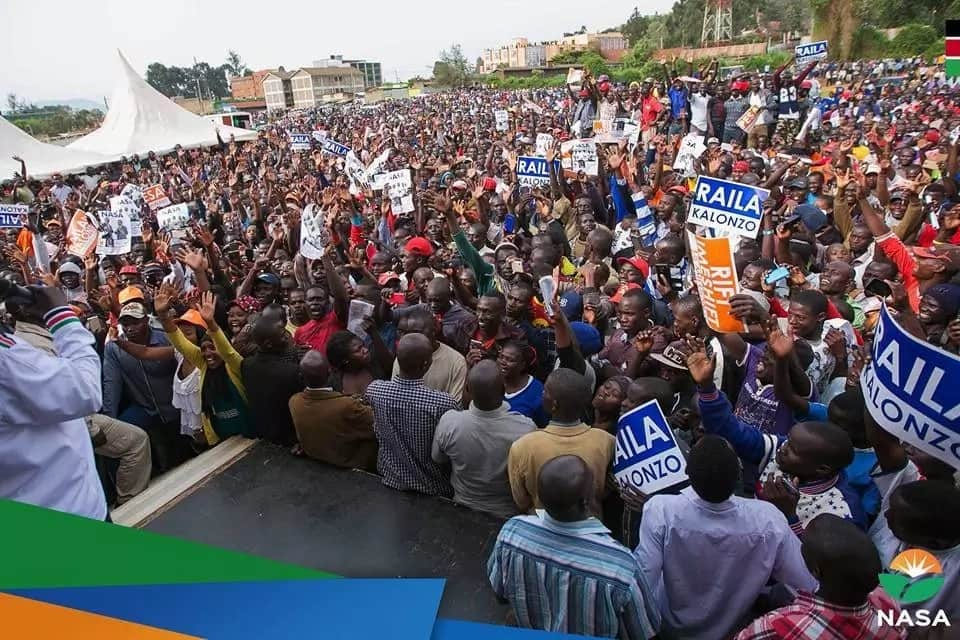 Raila's speech in Murang'a stopped abruptly just hours after being heckled in Baringo