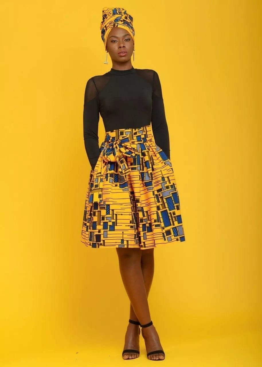 bc2a1c87f86cf4 Trending African print midi skirt, african print skirts, african print  pencil skirts
