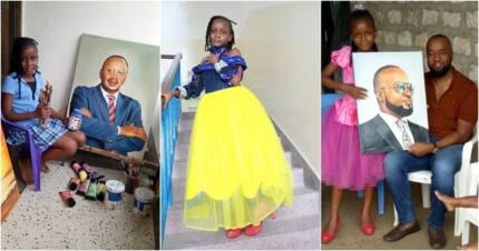 Msichana mchoraji wa miaka 9 ana zawadi ya kupendeza kwa Rais Uhuru