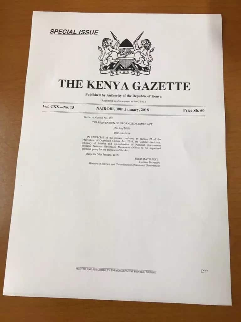 Matiangi declares NRM a criminal gang hours after Raila's swearing-in