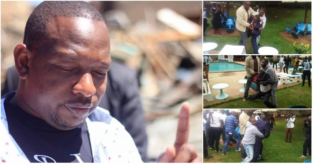 Sonko distances himself from goons pictured with him, tells police to arrest them