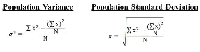 calculate variance in exucel how to calculate vtariance in statistiics variance formula