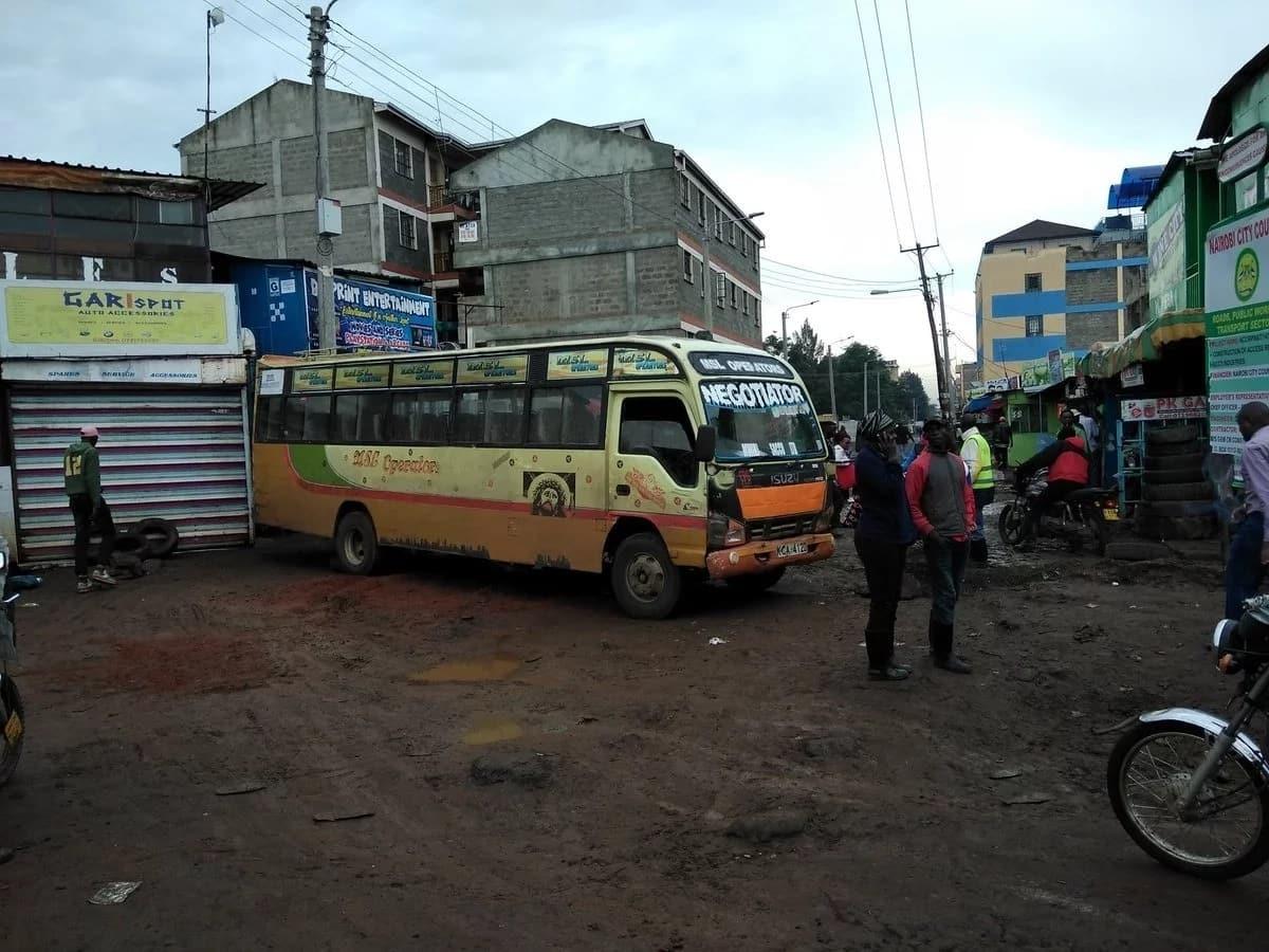 Matatu operators on Kasarani-Mwiki road have gone on strike