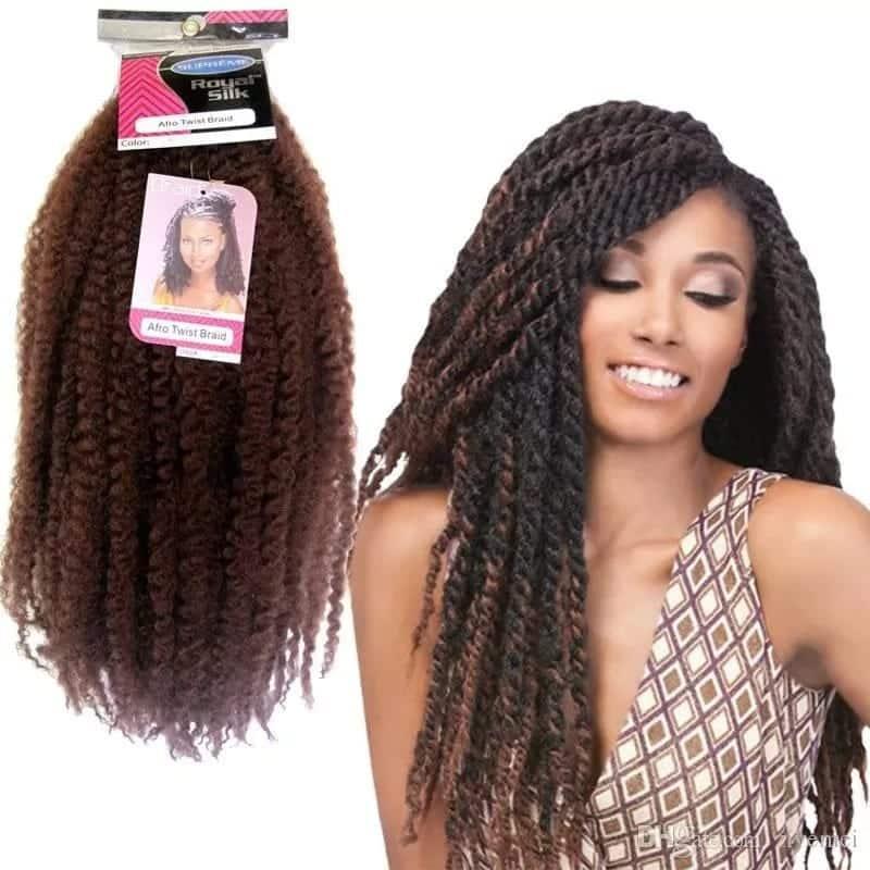 Afro kinky hair braids