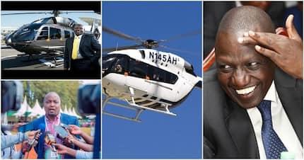 I use Moses Kuria's chopper to fly around - DP William Ruto