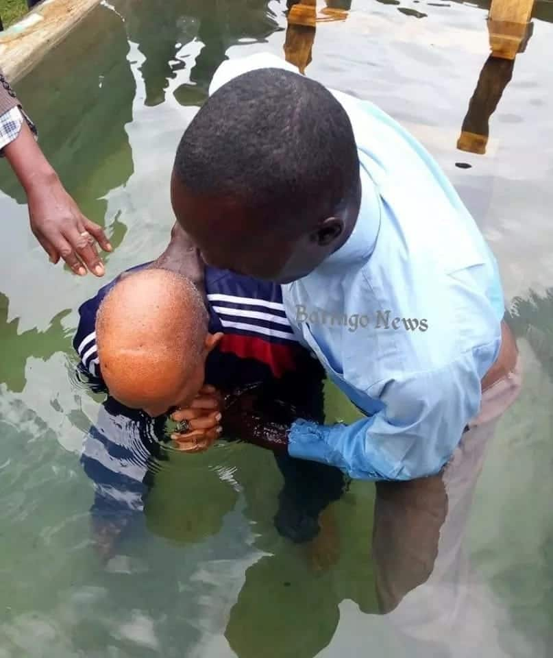 94-year-old Baringo man baptised with 5,000 litres of boiled water
