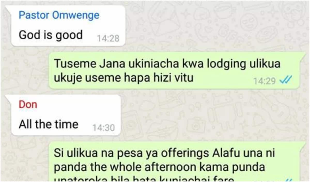 Thirsty and amorous pastor exposed in leaked church WhatsApp group