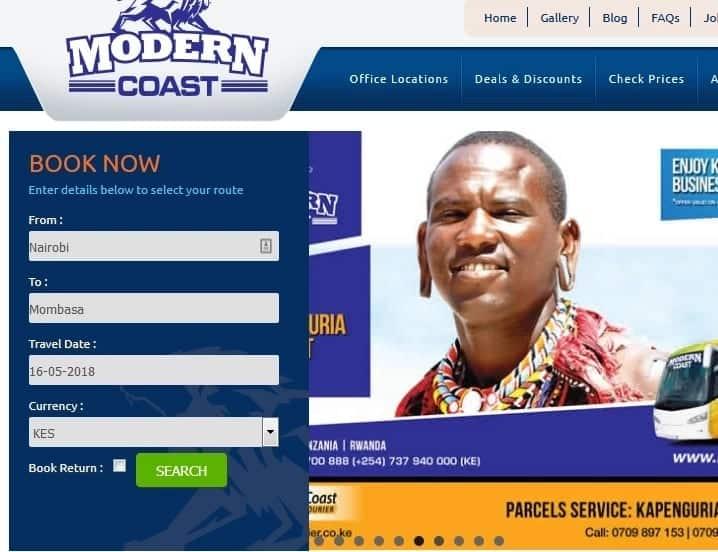 Modern Coast bus online booking