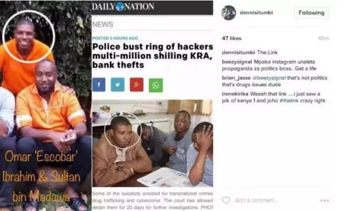 Image result for itumbi shares joho with the hacker