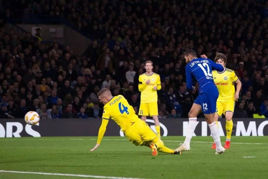 Europa League: Ruben Loftus-Cheek scores hat-trick as Chelsea dismiss BATE Borisov 3-1