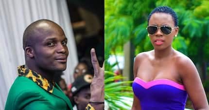 Comedian Jalang'o tells Akothee to learn the difference between a bikini and underwear