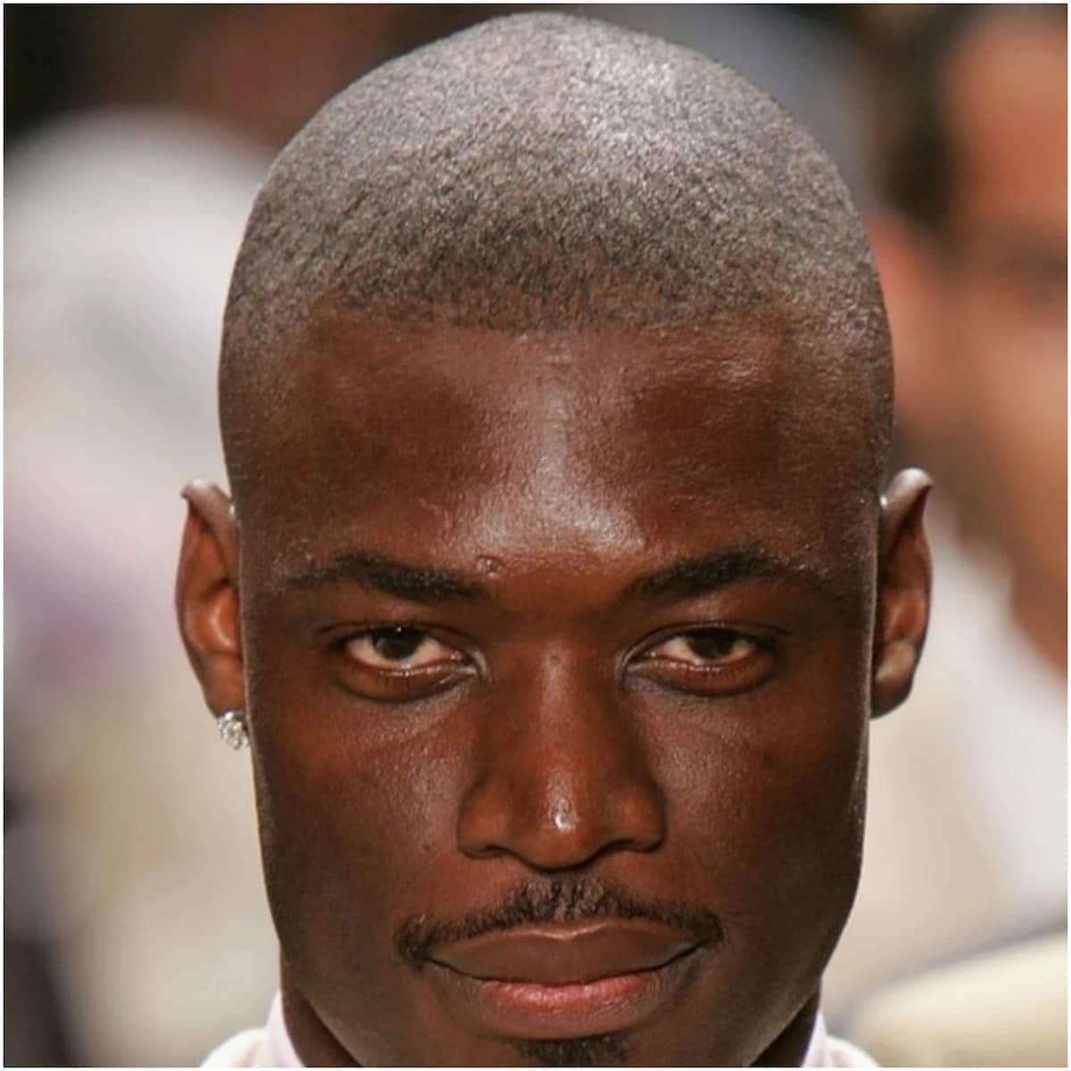 Buzz cut casual black men hairstyles