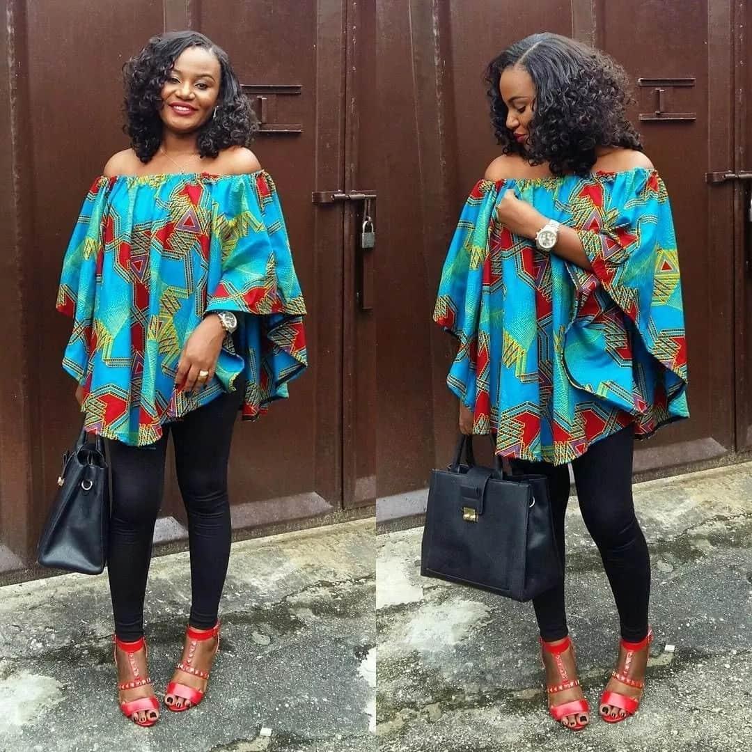 Kitenge tops designs for ladies
