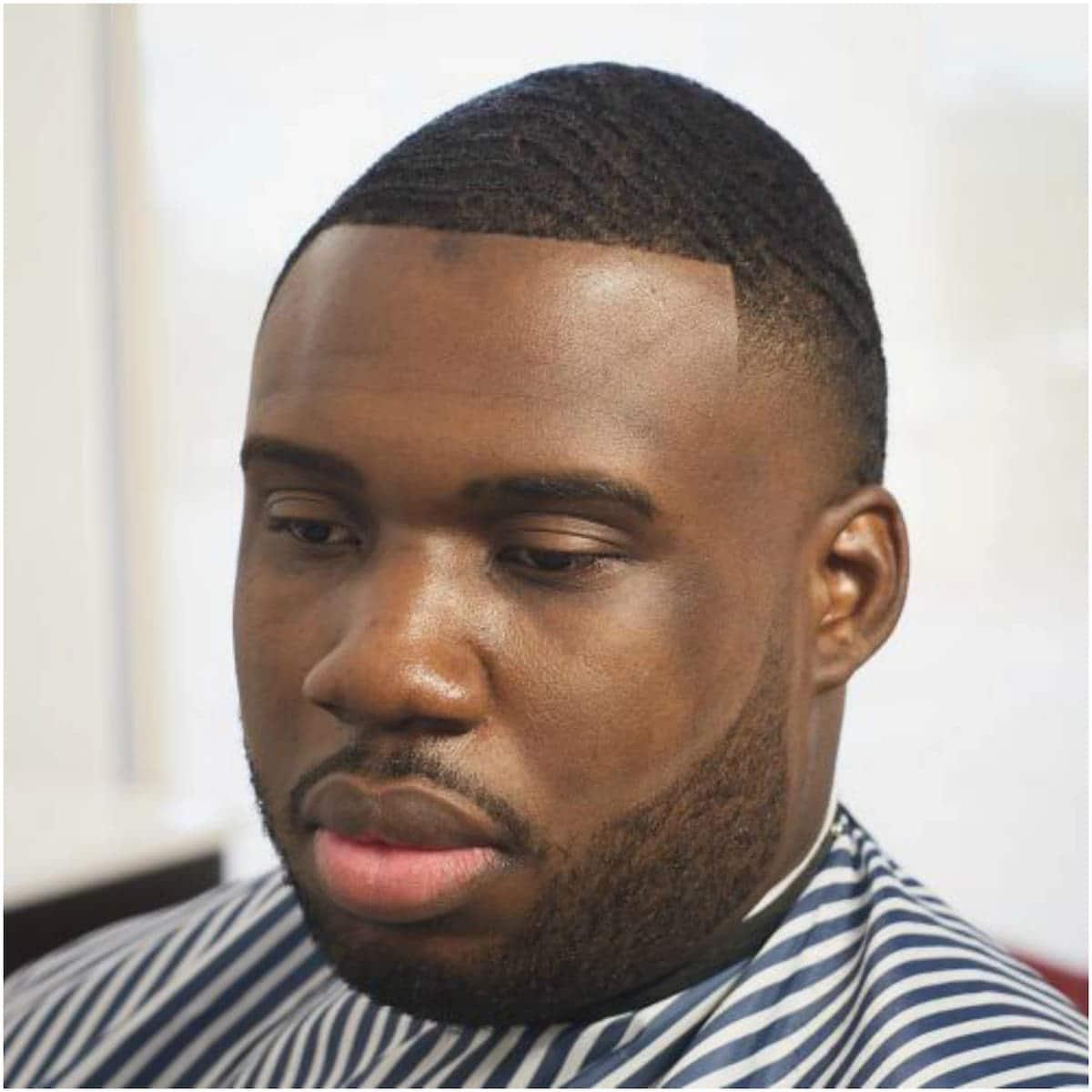 Buzz cut casual black men hairstyle