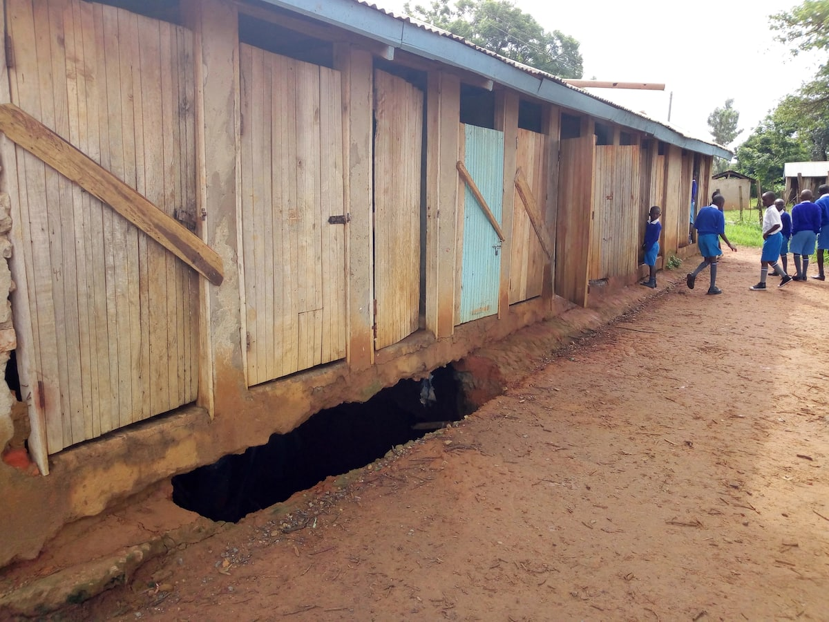 Country's most populous primary school stares at a crisis as 25 pit latrines sink