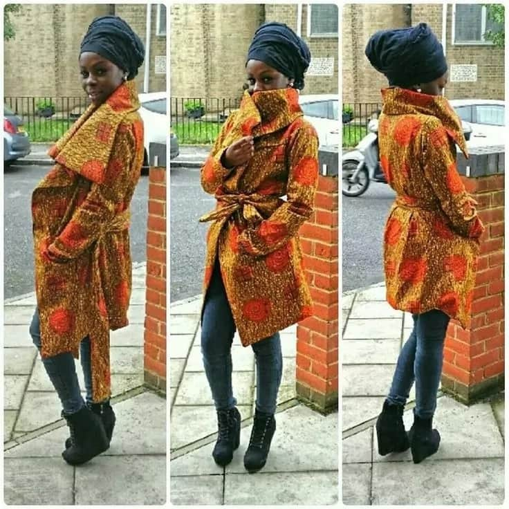 Kitenge coat designs