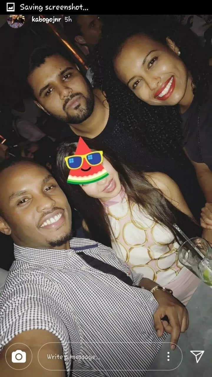 When the rich party: William Kabogo's son spotted partying with ex-president Moi's granddaughter