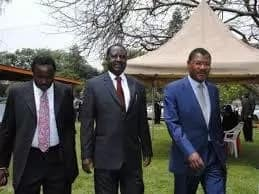 Raila, Kalonzo in a heated exchange of word