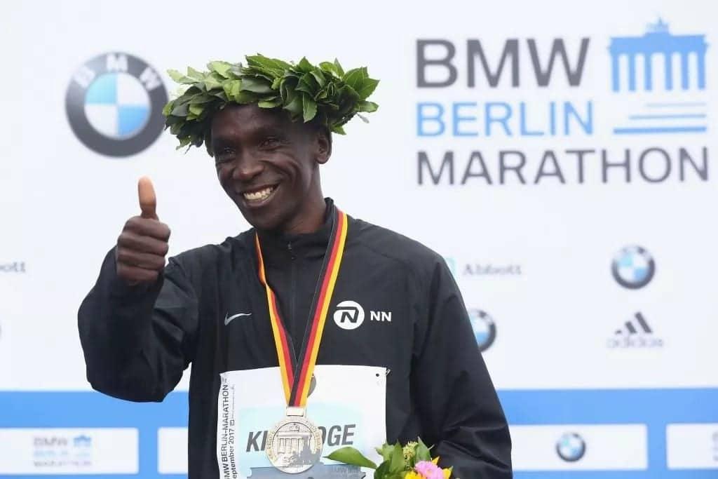 Olympic champion Eliud Kipchoge promised brand new Isuzu D-max pickup should he break Berlin world record