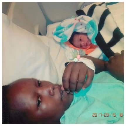 Remember the KSh 100 couple? Their 2-day old baby is absolutely handsome (photos)