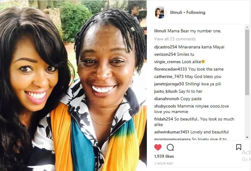 Pregnant Citizen TV's Lilian Muli introduces her youthful mum and she is an exact copy
