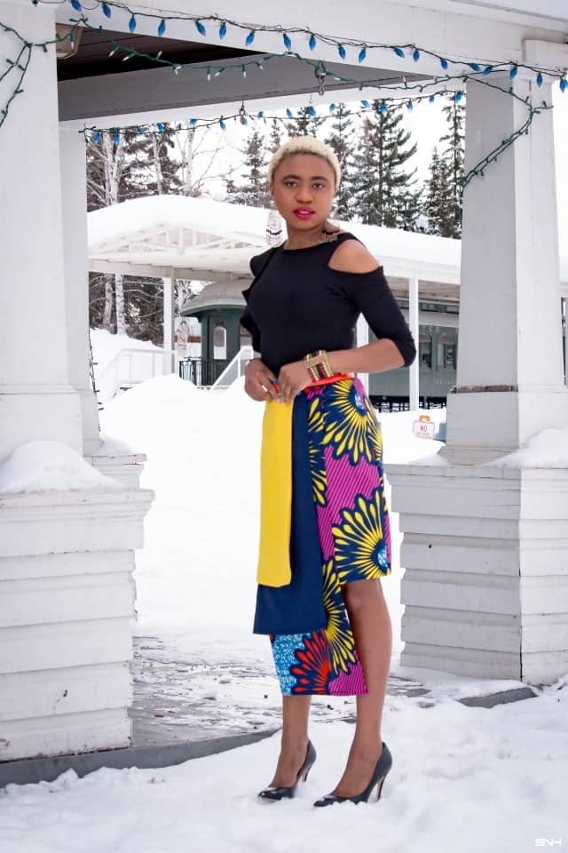 Latest ankara styles 2018 - asymmetrical skirt