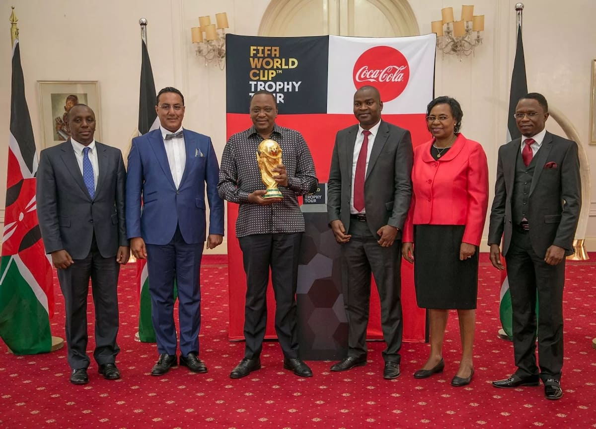 Newly appointed Sports CS, a class 7 drop out, fumbles in his speech as Uhuru watches
