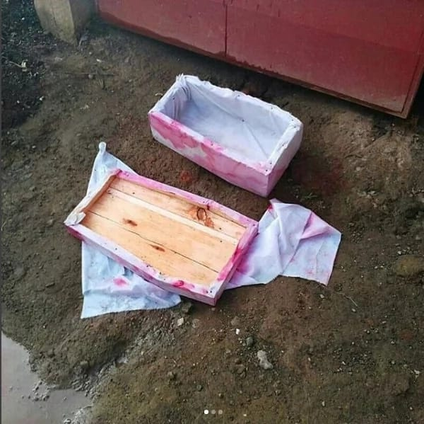 Tanzanian man terrified after finding coffin outside his house