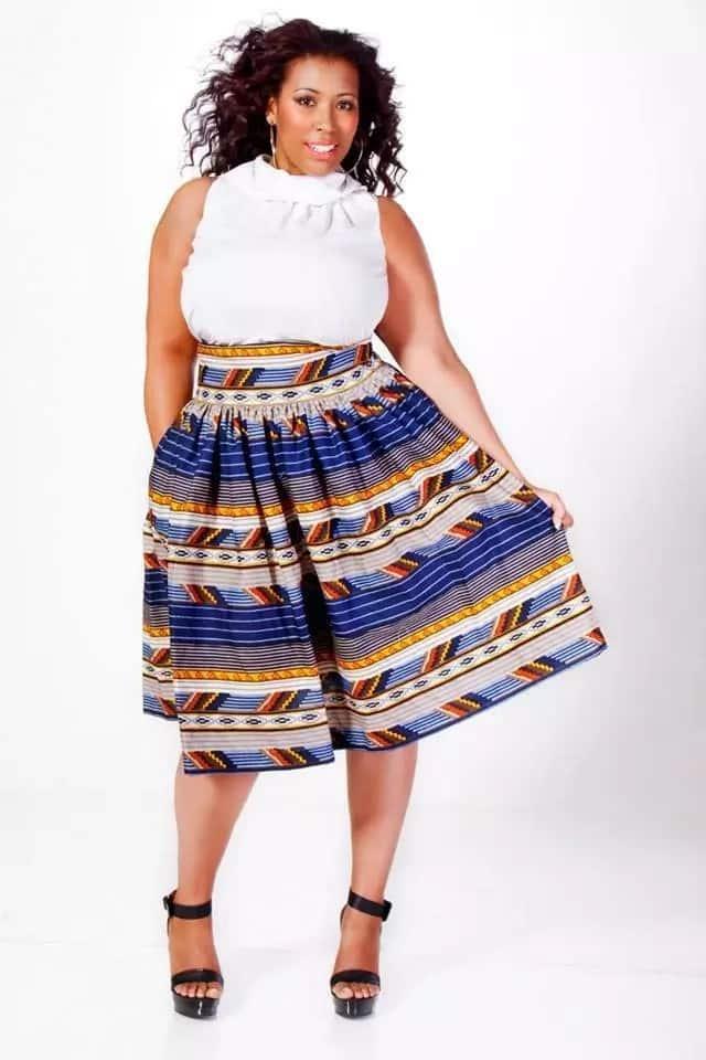 Kitenge skirt designs