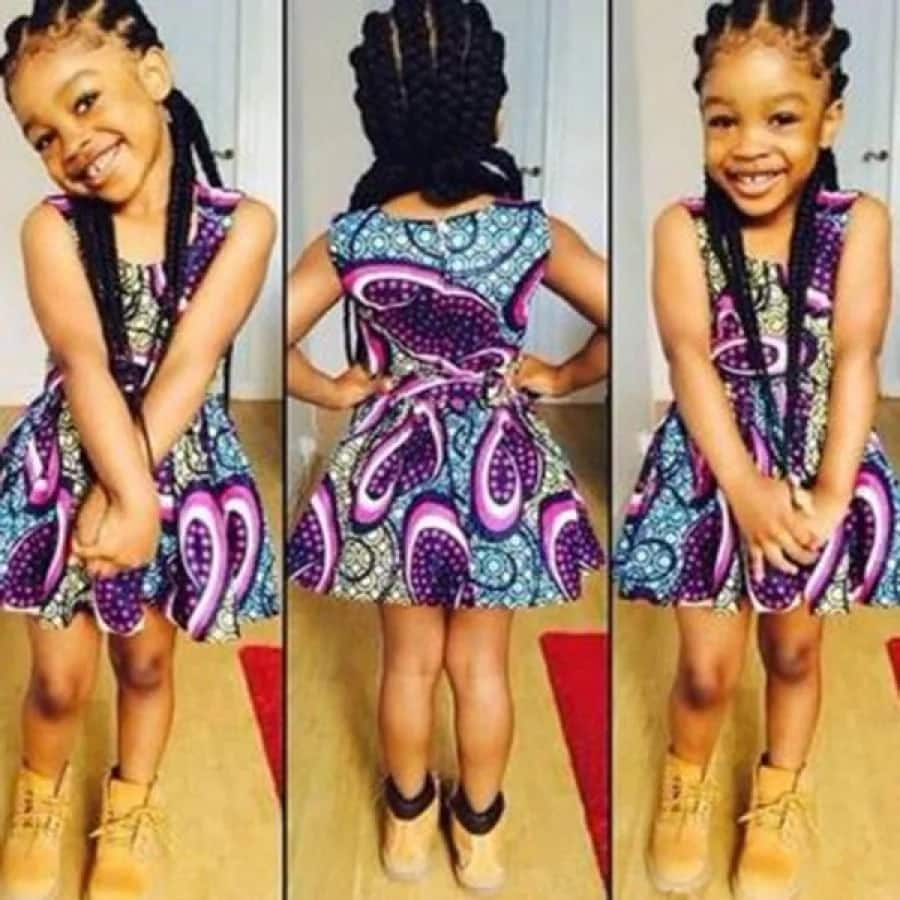 Latest African Ankara designs for kids