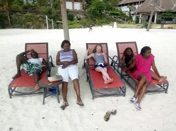 Top KCPE pupil Goldalyn Kakuya enjoying Christmas at the beach with family and its lovely