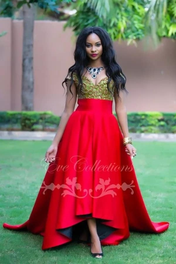 Red Kitenge designs for ladies