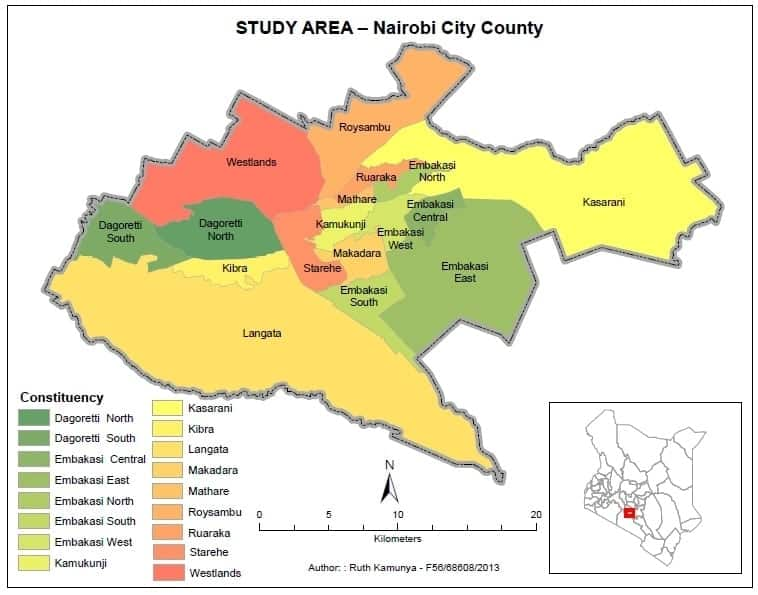 Nairobi county wards, wards in Nairobi county, Nairobi county wards, Nairobi costituencies