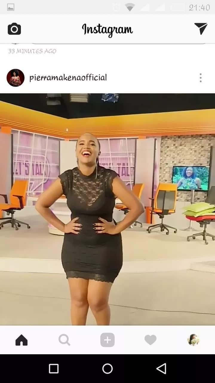 Pierra Makena bares her curvaceous body in tiny dress and she looks perfect