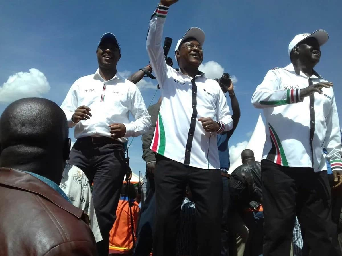 Kalonzo, Wetangula and Musalia simply chickened out of Raila swearin-in - Orengo