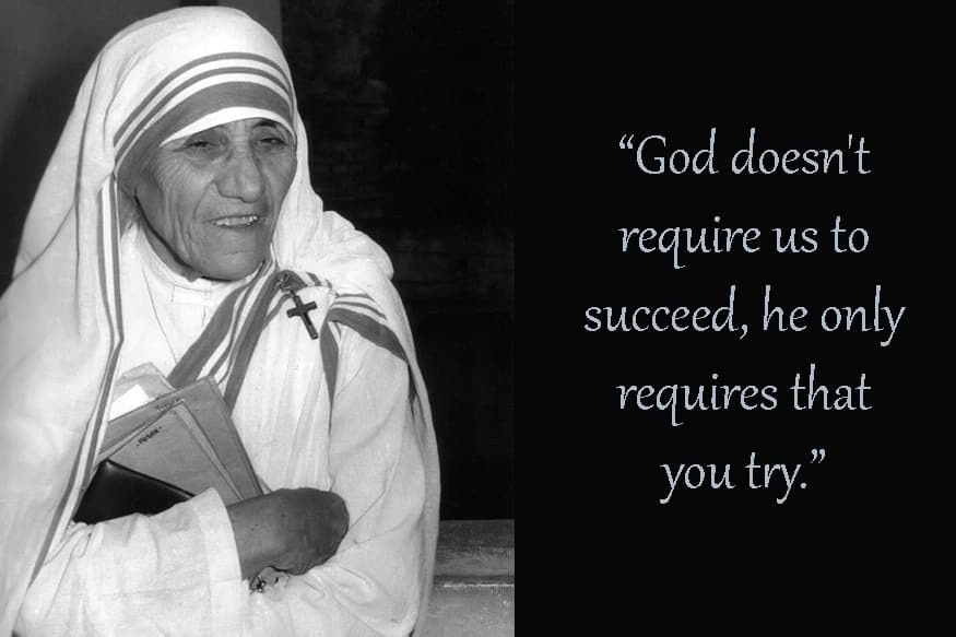 Mother Teresa quotes on family, love, and life