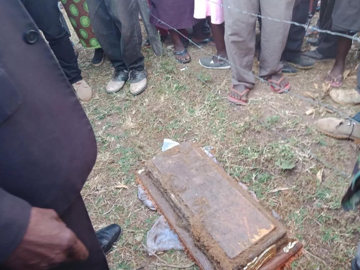 Tension as exhumed coffin with child's body found dumped in a Primary school in Malava