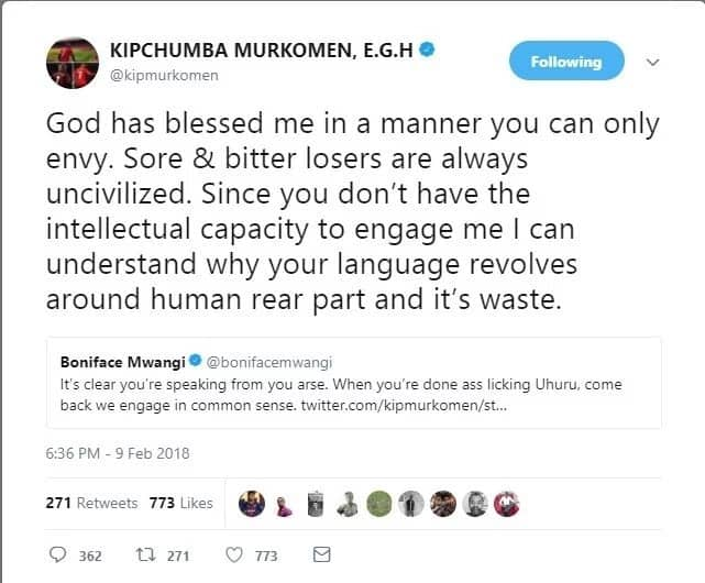 You don't have the intellectual capacity to engage me - Murkomen tears in activist Boniface Mwangi