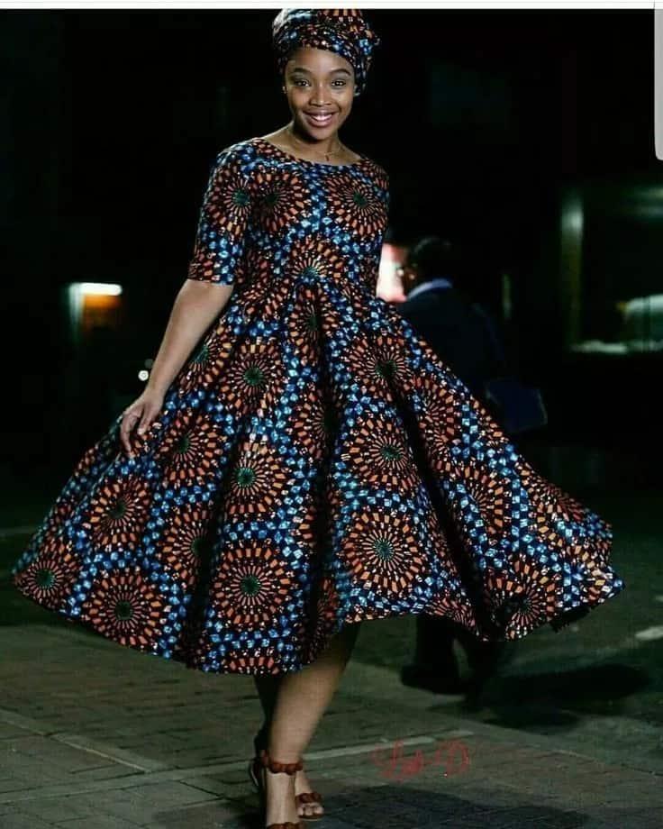 Kitenge designs for long skater dresses