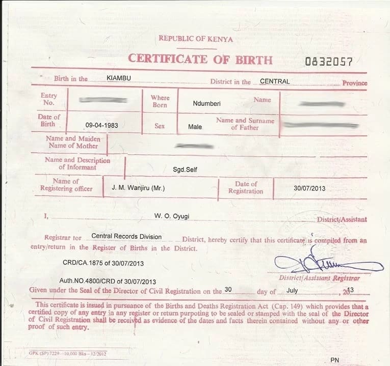 4 Sample Birth Certificate: Application For Late Registration Of Birth Form B3 In