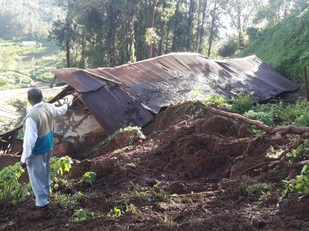 Watchman, 3-year-old girl survive landslide in Kigumu, Murang'a