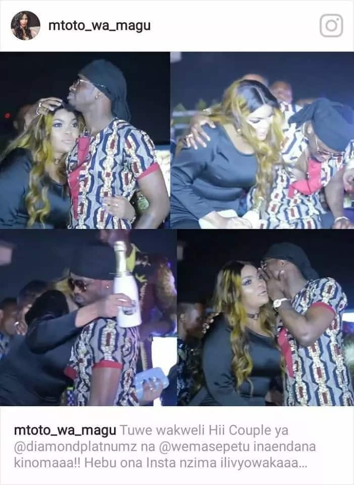 Diamond Platnumz spotted getting cozy with his ex, Wema Sepetu