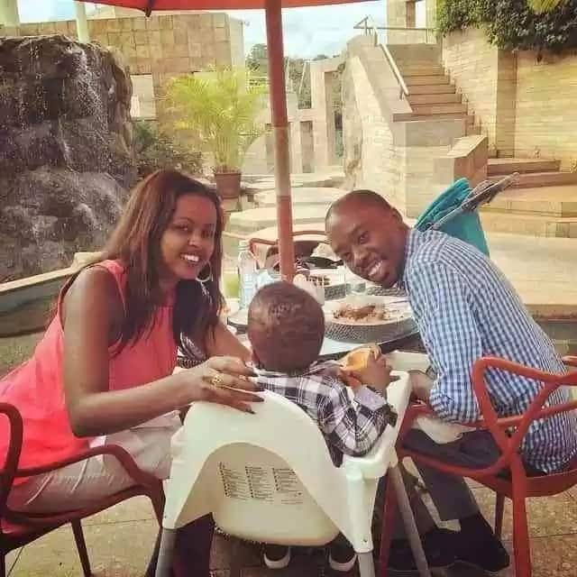 Amina Abdi and her Husband with their son