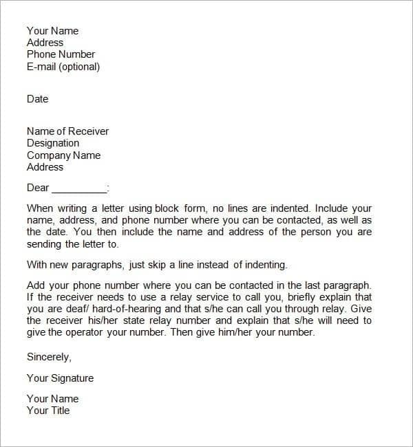 how to write an official letter official letter format official letter example