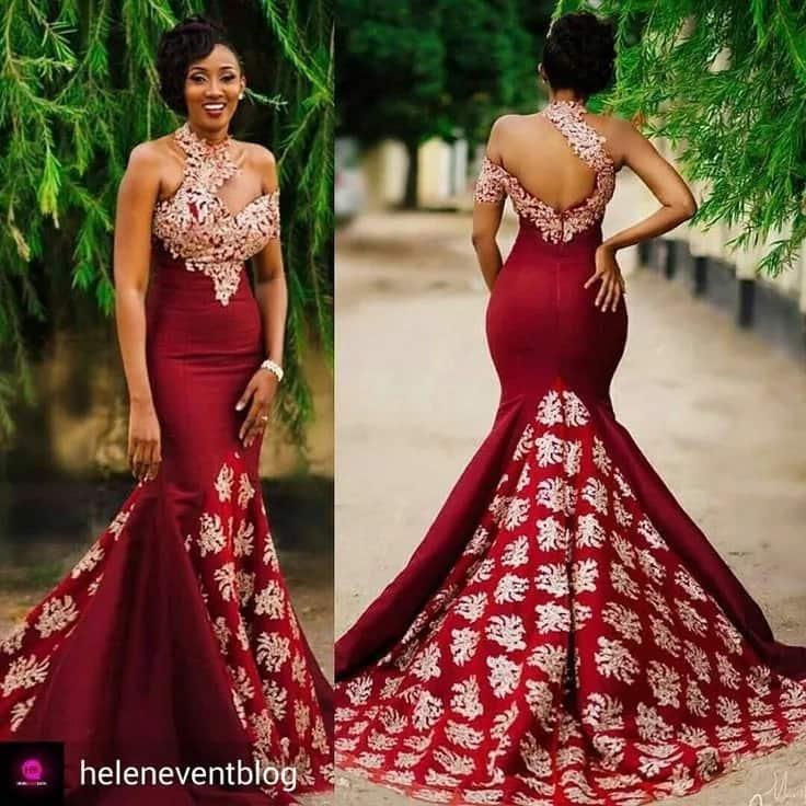 Kitenge bridal dress design