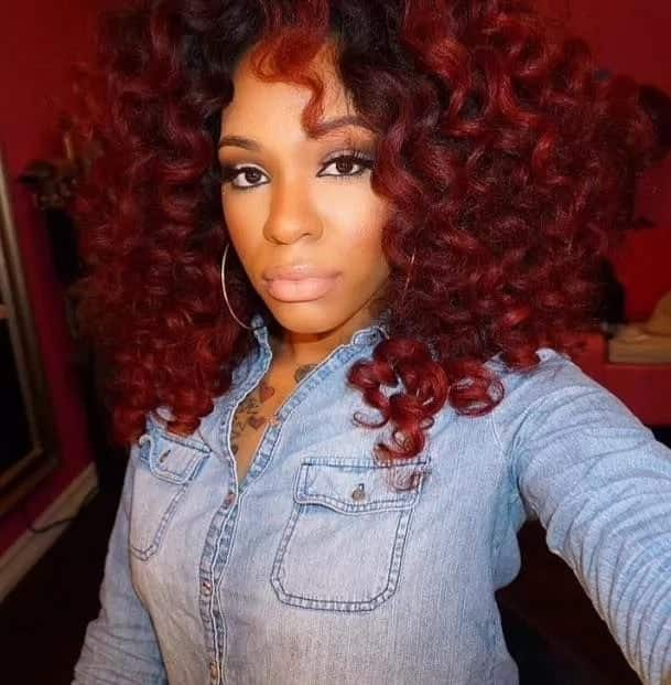 Crochet braids with curly human hair