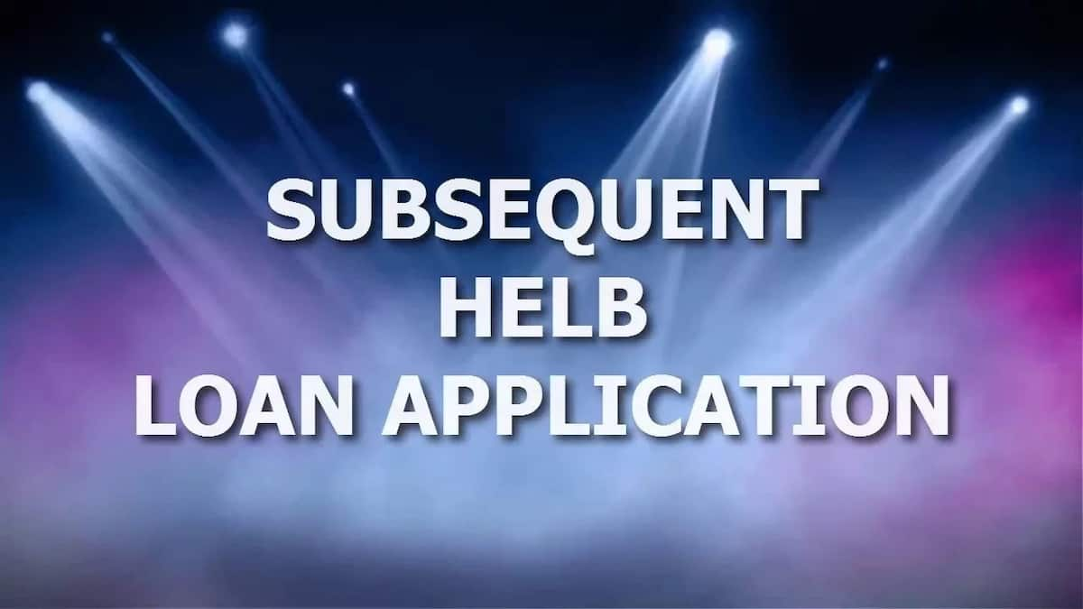 Helb Subsequent Application