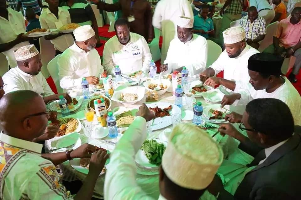 Raila and Kalonzo differ in public over support for individual parties